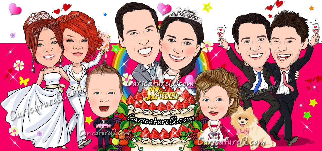 Custom Caricatures From Photos - Designed by www.CaricatureQ.com
